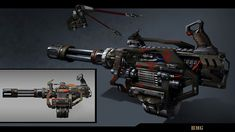 Grenade Launcher_Work Flow by Anthony P on ArtStation.