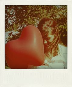 Heart. Filters or a vintage photo? In clearer colour I think she'd be blushing. #storystarter