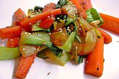 Schnelles Pak Choi-Karotten-Gemüse (Rezept mit Bild)   Chefkoch.de