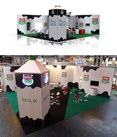 From render to reality... Muller Wiseman Dairies exhibition stand - ISOframe