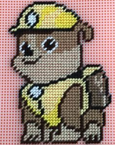 Cross Stitch Paw Patrol (RUBBLE) by Marcelle Powell ❤️