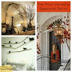 Decorating with branches! Inspiration for decorating with the most versatile seasonal decor!  #theinspiredroom