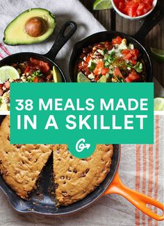 38 Healthy One-Skillet Meals – Famous Last Words One Skillet Meals, One Pot Meals, Easy Meals, Skillet Recipes, Inexpensive Meals, Healthy Cooking, Healthy Eating, Cooking Recipes, Meal Recipes