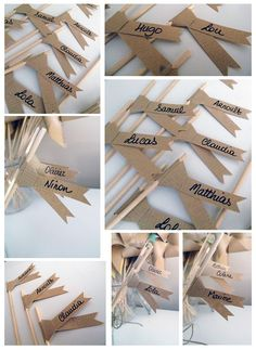 Déco mariage - Marques places enfants... Wedding Prep, Wedding With Kids, Wedding Table, Diy Wedding, Wedding Gifts, Wedding Day, Wedding Decorations, Table Decorations, Marry You
