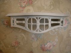 WHITE BURWOOD WALL SHELF BED CROWN! SHABBY COTTAGE CHIC | Home & Garden, Home Décor, Wall Shelves | eBay!