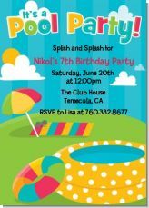 Pool parties are a really fun way to celebrate summer birthdays! Great invitation for a pool party!