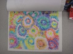 Crayon fireworks, great art project for end of school (since we finish so close to July 4th.)