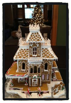 My attempt at a complex gingerbread house for xmas 2013