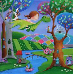 "Saatchi Art Artist Iwona Lifsches; Painting, ""Ulla In Fairy Land, SOLD"" #art"