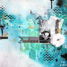 Mixed Media Layout by Paula Castells