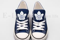 03969ca7a7 New Hot Sale Blue Canvas Shoes Toronto Maple Leafs Fans Fashion Gift