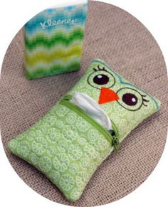 In The Hoop - Tissue Holders - Owl Tissue Holder - Embroidery Garden (Powered by CubeCart)