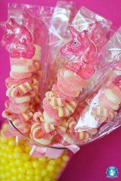 Summer Special Unicorn Candy Kabobs - SweetsIndeed on Etsy Pink Princess Party, Pretty Pink Princess, Princess Birthday, Unicorn Princess, Daughter Birthday, Birthday Treats, Party Treats, 3rd Birthday Parties, Party Favors