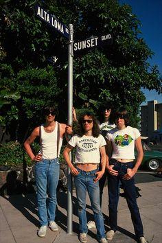 The Ramones on Sunset Boulevard, 1978.