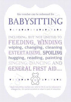 image relating to Babysitting Coupon Printable identify Choice of Printable Babysitting Coupon (55)