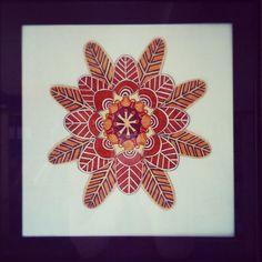 Mandala. Be love! By Danish artist Susanne Schmidt www.kraftkvinden.dk