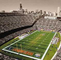 """Soldier Field Chicago Bears 20"""" x 20"""" Canvas Art by Holy Cow Canvas $50.00"""
