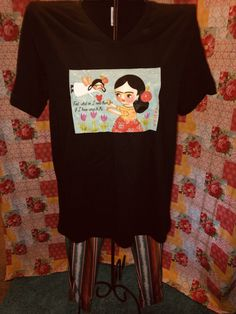 Excited to share this item from my shop: Frida Angel feet quote tee shirt t-shirt Mexican Blouse, Mexican Outfit, Mexican Dresses, Mexican Clothing, Long Sleeve Tee Shirts, T Shirt, Black Tunic, Canadian Artists, Bella Canvas