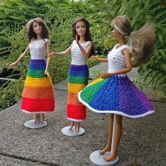 Ravelry: Barbie Rainbows pattern by Woolly Thoughts