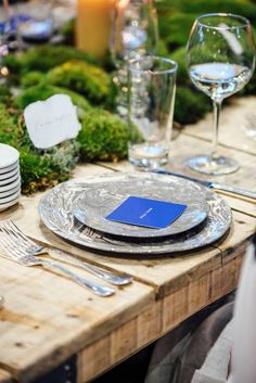Marble place setting.