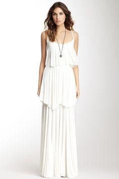 Rachel Pally Ribbed Isela Maxi Dress white