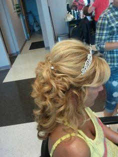 Long hair style for wedding / dance