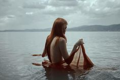 Lonely lake by NinaSever ---  Photography / People & Portraits / Emotive Portraits