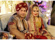 Stani Celebrity Wedding Actress Sadia Imam Bridal Dress Design S