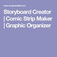Storyboard That's online Storyboard Creator makes amazing visuals and graphic organizers for digital storytelling. The software is perfect as a comic strip maker! Writing Resources, Writing A Book, Storyboard Creator, Comic Book Template, Visual Literacy, Speech And Language, Language Arts, Digital Storytelling, Informational Writing