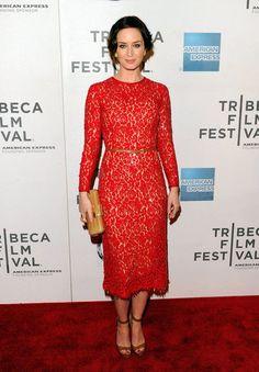 Emily Blunt in Michael Kors- classic silhouette, so elegant