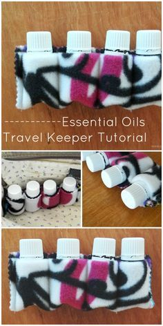 Simple Essential Oils Carrier Tutorial- perfect for keeping bottles safe at the bottom of any bag!