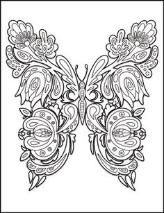 Butterflies Coloring Book for Adults by Amanda Neel Davlin Publishing #adultcoloring