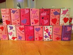 Made these tonight - Valentine juice boxes!