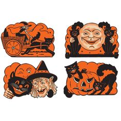 Vintage Paper Halloween Cutouts from The Holiday Barn