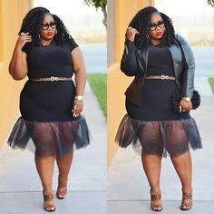 Mixing the sexiness of a bodycon with the fun of a tu-tu for the ultimate dress! Tutu Cute   Now on the blog! Dress: @bellab.roseboutique #linkinbio #plussizefashion #psfashion #fullfiguredfashion #bbw #bbwlove #whatiwore #tutudress #tutuskirt #tutu #bellabroseboutique #flyfashiondoll #fashionforwardplus #bbbg #bgki #blackgirlswhoblog #psblogger #lablogger #lacenleopard #servingchocolate