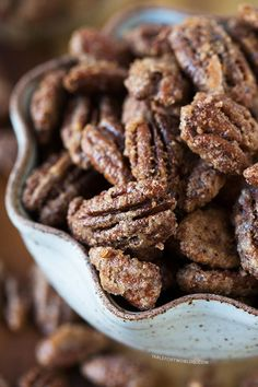 Maple Cinnamon Spiced Nuts - nothing says Christmas like spiced pecans!.