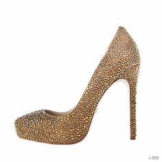 Janiko női magassarkú cipő Boujis bézs / arany XB1017