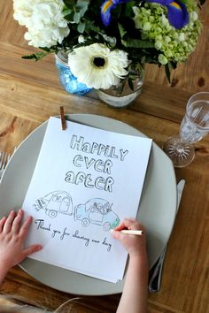 Personalized wedding coloring book! These are hand drawn pages that are sure to keep your little guests happy. #WeddingFavor #FlowerGirl