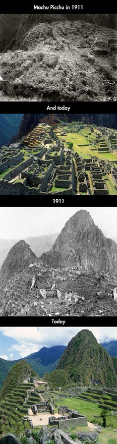 Funny pictures about Machu Picchu Before And After. Oh, and cool pics about Machu Picchu Before And After. Also, Machu Picchu Before And After photos. Machu Picchu, Ancient Ruins, Ancient History, Places To Travel, Places To See, Peru Travel, Ecuador, Wonders Of The World, Beautiful Places