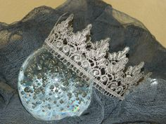 unique baby crown with the cheesecloth set photo prop by JBPLove, $15.50