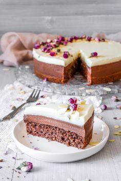 Triple Schoko Torte - Ahalni Sweet Home Perfect Chocolate Cake, Mousse Cake, Food Dishes, Vanilla Cake, Cheesecake, Sweet Home, Food And Drink, Sweets, Cooking