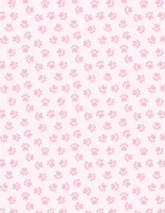 Pale pink paw print paper pattern!  Might work for animals besides dogs and cats.