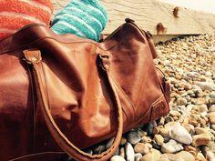 MAHI Leather Deep Weekender in vintage brown all ready for the sunshine Leather Holdalls, Weekender, Sunshine, Deep, Unisex, Pocket, Tote Bag, Brown, Casual
