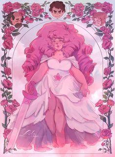 Rose Quartz Steven Universe, Steven Universe Anime, Pink Diamond Steven Universe, Character Art, Character Design, Nifty Crafts, Cool Art Drawings, Video Game Art, Fun Facts