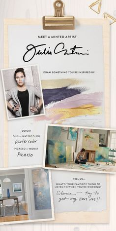 Meet a Minted Artist: Julia Contacessi by Heather Lee for Julep