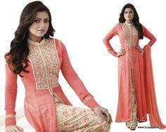 Drashti Dhami Peach Designer Salwar Kameez
