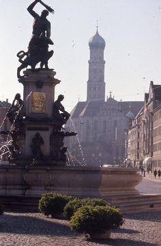 Romantische Strasse - Augsburg - Herkulesbrunnen | V-like-Vintage