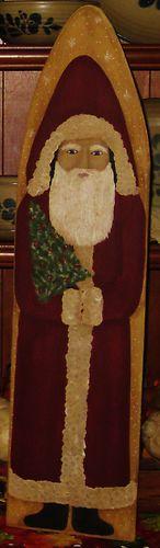 Primitive HP Folk Art Belsnickle Santa Christmas Winter Stretcher | eBay