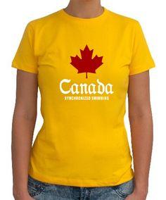 Canada Synchronized Swimming Women T-Shirts