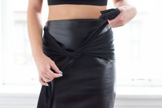 Pleather skirts pre fall